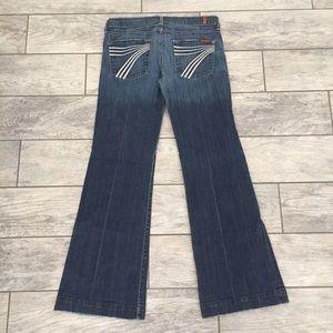 7 For All Mankind Dojo Flare Wide Leg Jeans 29